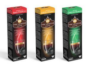 Capsules de café compatibles pour le système Système K-Fee  Caffè Tre Venezie Kit Assaggio 3 Venezie