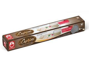 Kapsel Kompatibel Getränke mit Nespresso®* System Caffè Bonini Capricci Cioccolato Bianco