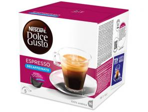 Original Coffee Capsules for the system Nescafé Dolce Gusto Nescafè Espresso Decaffeinato