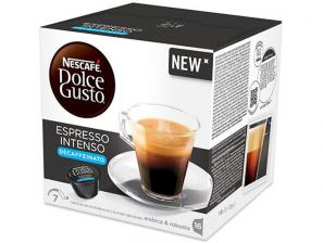 Original Coffee Capsules for the system Nescafé Dolce Gusto Nescafè Espresso Intenso Decaffeinato