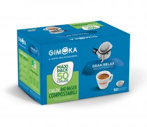 Cialde Caffè Compatibili ESE 44mm Gimoka Cialde Dek Gimoka Gran Relax X 50