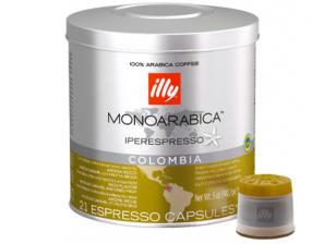 Original Coffee Capsules for the system Illy Iperespresso Illy Monoarabica Colombia