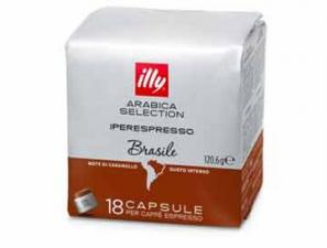 Original Coffee Capsules for the system Illy Iperespresso Illy Monoarabica Brasile