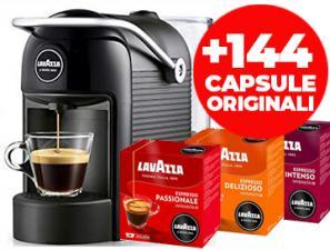 Coffee machines Lavazza Lavazza Jolie Nera + 144 Capsule Originali