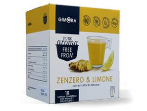Teas and infusions compatible capsules with NESCAFÉ® Dolce Gusto®* system Gimoka Ginger And Soluble Lemon