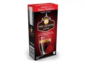 Capsule Caffè Compatibili con sistema Nespresso®* Caffè Tre Venezie Arabica Di San Marco