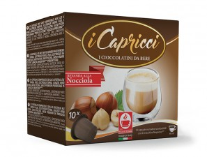 Capsule Compatible Drinks for the system Nespresso Caffè Bonini Capricci Nocciola