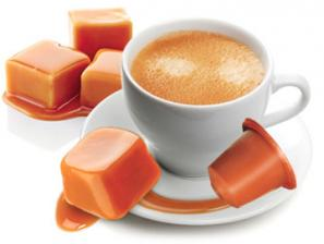 Flavored Coffee Capsules Compatible for the system Nespresso Caffè Bonini Caramel