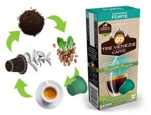 Capsules de café compatibles avec le système Nespresso®* Caffè Tre Venezie Forte