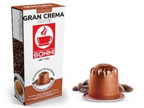 Capsules de café compatibles avec le système Nespresso®* Caffè Bonini Grande crème