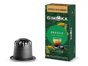 Capsules de café compatibles avec le système Nespresso®* Gimoka Brésil