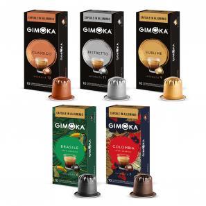 Kompatibel Kaffeekapseln mit Nespresso®* System Gimoka Kit Assaggio Gimoka Alluminio