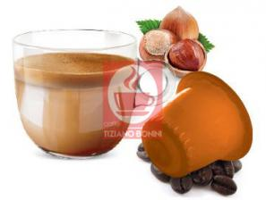 Kapsel Kompatibel Getränke mit Nespresso®* System Caffè Bonini Nocciolino