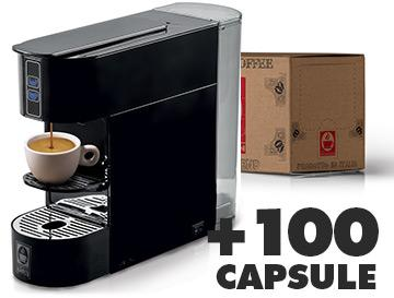 Caffè Bonini Machine Bonina révisée + 100 capsules de café